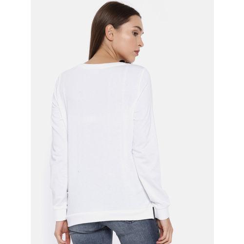 ONLY Women White Printed Sweatshirt