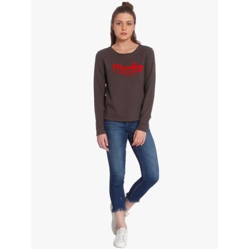 ONLY Brown Printed Sweatshirt