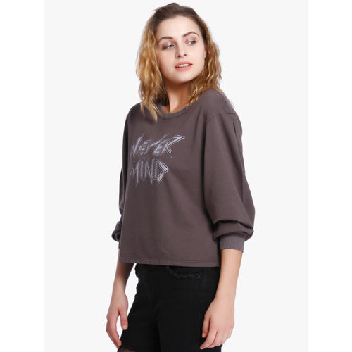 ONLY Brown Printed Sweatshirt