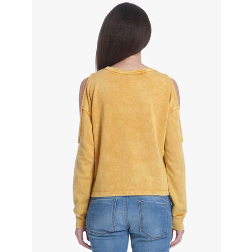 ONLY Mustard Yellow Embroidered Sweatshirt