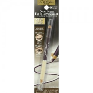 L'Oreal Paris Double Extend Eye Illuminator Eyeliner, Black Quartz, 0.048 Ounces
