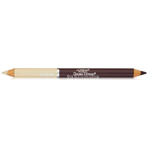 L'Oreal Paris Double Extend Eye Illuminator Eyeliner, Black Quartz, 0.048 Ounces