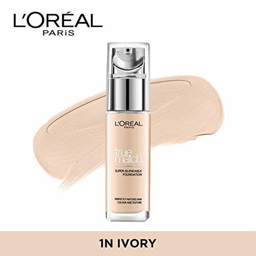 L'Oreal Paris True Match Super Blendable Liquid Foundation Ivory 1N, 30ml