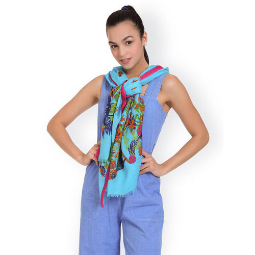 SHINGORA Women Blue Printed Stole