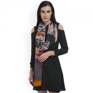 SHINGORA Women Multicoloured Printed Woollen Stole