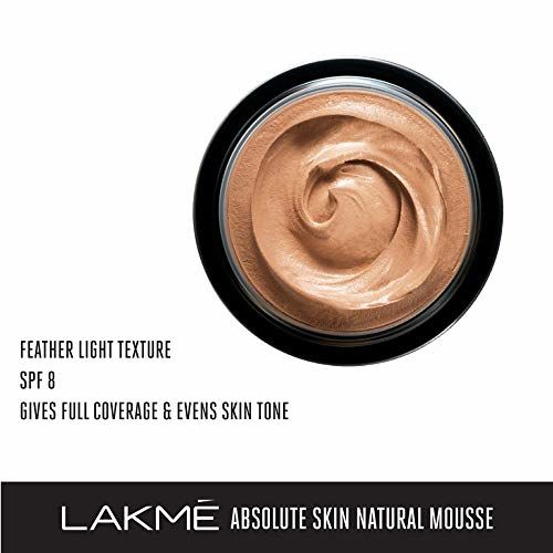 Lakmé Absolute Skin Natural Mousse, Beige Honey 05, With Spf, Light Texture , Stays Upto 16 Hours, 25 g