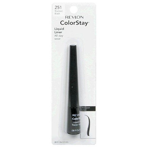 Revlon ColorStay Liquid Liner, 0.08 Ounce (2.5 ml) (Pack of 2)