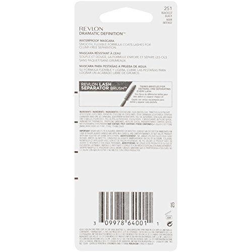 Revlon Dramatic Definition Mascara - Waterproof, Blackest Black, 0.28 fl oz