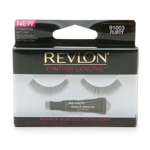 Revlon Fantasy Lengths Maximum Wear Glue On Eyelashes, Flirty 1 pr by Revlon