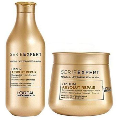 L'Oreal loreal professional lipidium mask + Shampoo combo new packing(550 ml)
