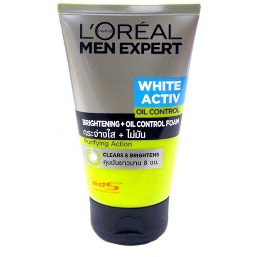 L'Oreal Paris men expert white activ oil control brightening foam Face Wash(100 ml)