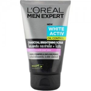 L'Oreal Paris Men Expert White Active Oil Control Charcoal Brightening Scrub(99 ml)