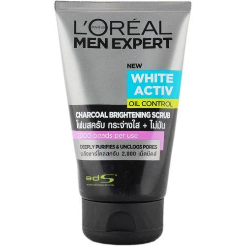 L'Oreal Paris Men Expert White Active Oil Control Charcoal Brightening Scrub(99 ml)