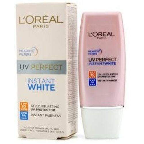 L'Oreal Paris Uv Perfect Instant White Protect Longlasting to 12hrs Spf 50+ Uvb, Uva Pa++++ 30ml - SPF 50 PA+++(30 ml)