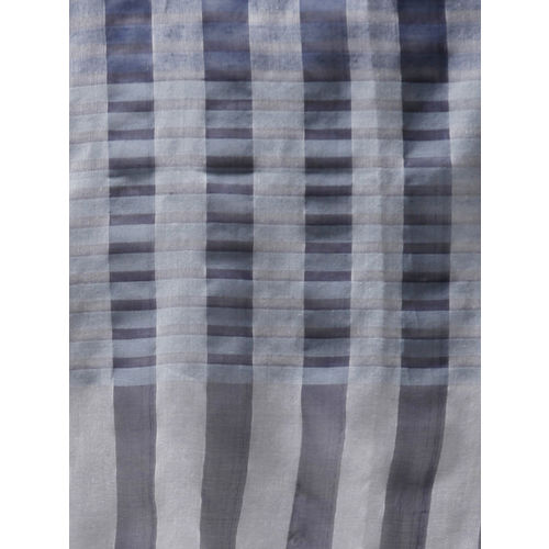 Style Quotient Women Navy Blue & Grey Checked Stole