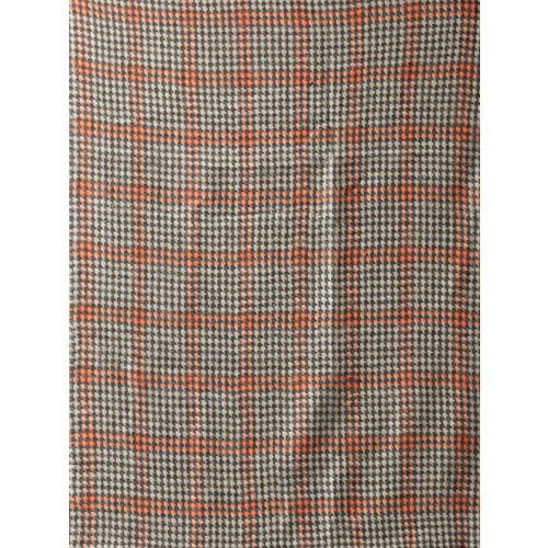 Style Quotient Women Beige & Orange Self-Checked Stole