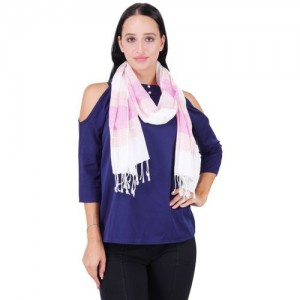 Anekaant Striped Cotton Women Scarf