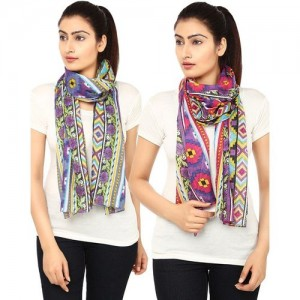 Anekaant Printed Cotton Women Scarf