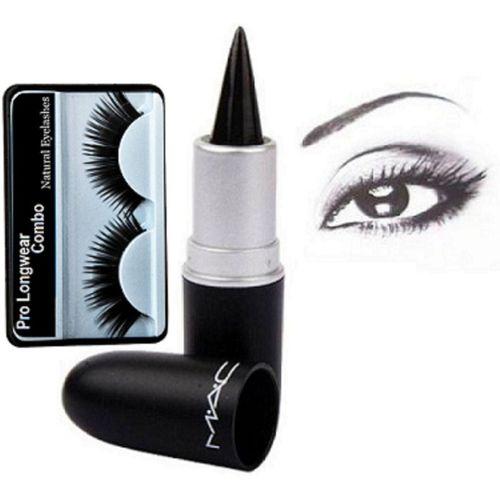 16041893c Pro longwear combo Eyelashes& Mac Kajal Stick Pure & Dark Black(Set ...