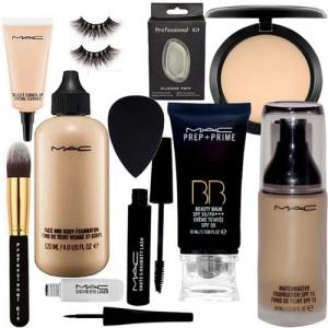professional kit Silicon Puff, Sponge Puff, Eyelashes, Make Up Brush, Mac Face