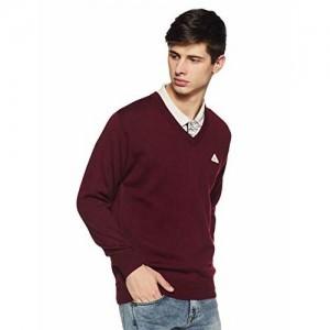 Monte Carlo Men's Sweater (1180115VN-948-38_Dark Maroon_38)