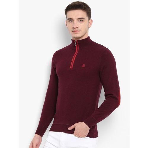 Monte Carlo Maroon Solid Pullover