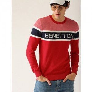 458dbe8e Buy Tommy Hilfiger Men Red & Navy Argyle Sweater online | Looksgud.in