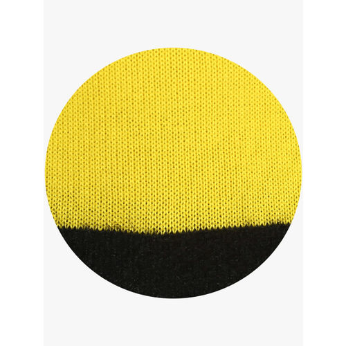United Colors of Benetton Yellow Solid Round Neck Sweater