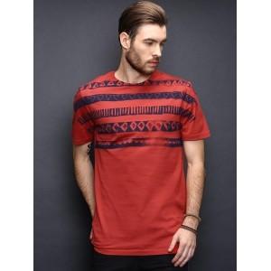 Antony Morato Red Printed T-shirt
