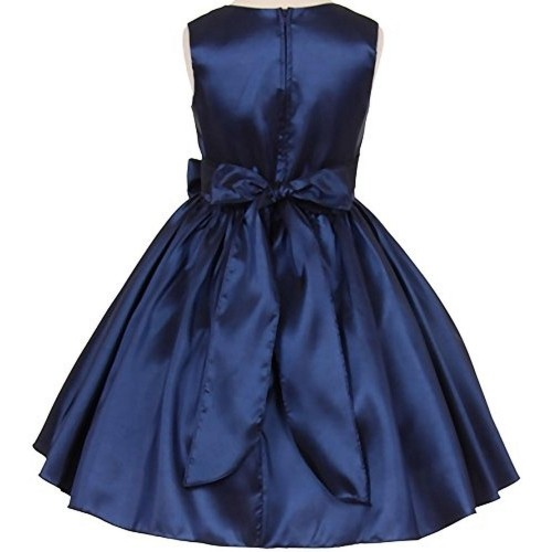 Pink Wings Blue Solid Girls party Wear Frock