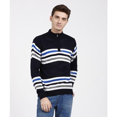 45d41565db7 Buy Duke Striped High Neck Casual Men Multicolor Sweater online ...