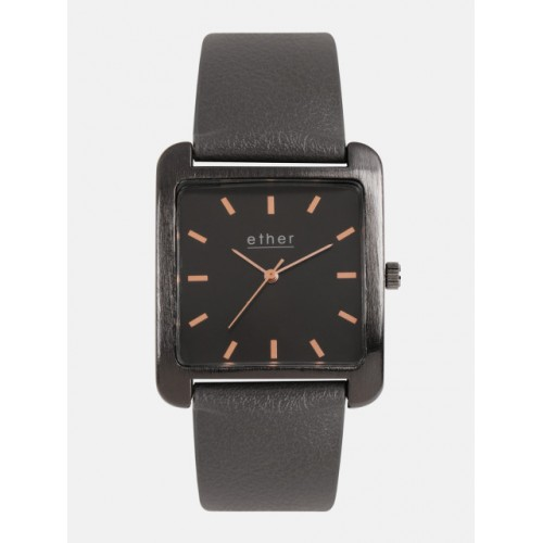 ether Unisex Black Analogue Watch PN-SNT-E09