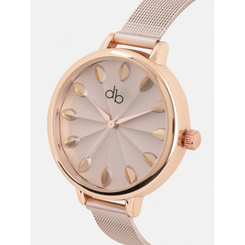 DressBerry Women Champagne Analogue Watch DK2427