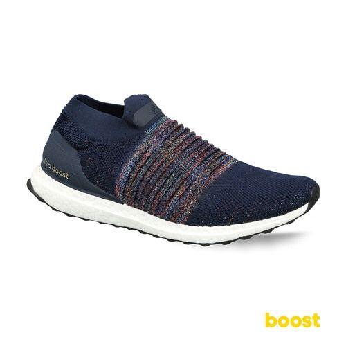 5b4d71ef96e ... Adidas Men Navy Blue UltraBOOST Laceless Woven Design Running Shoes ...