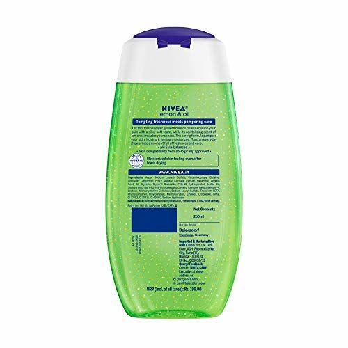 Nivea Care Shower Gel, Lemon and Oil, 250ml