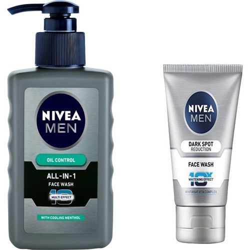 Nivea All in One Face wash 150 Ml & Dark Spot Reduction 100 g Face Wash(250 ml)