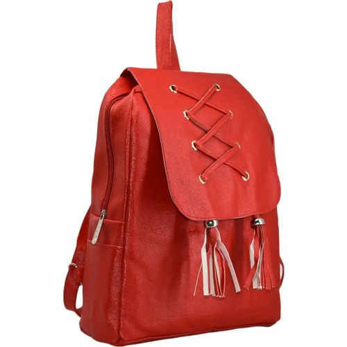 DE EULE Casual Girls Women College Office Bag Travel Backpack 12 Backpack(Red)