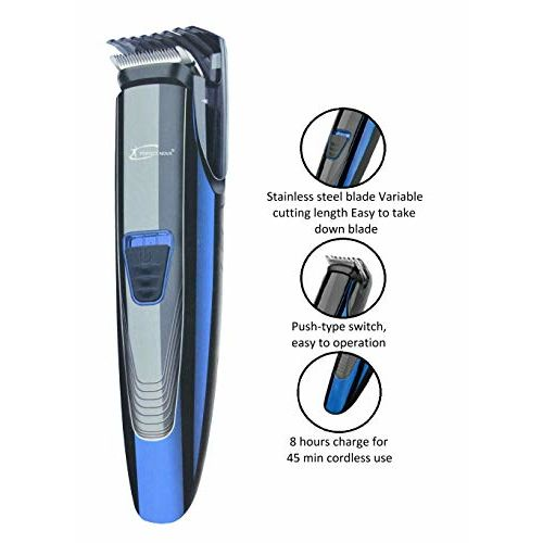 Perfect Nova (Device Of Man) Prime Series PNHT 9086 Cordless Trimmer for Men(Blue)