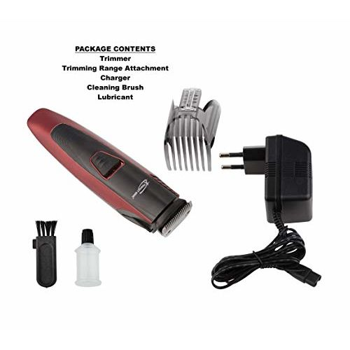 Perfect Nova (Device Of Man) Prime Series PNHT 9085 Cordless Trimmer for Men(Red)