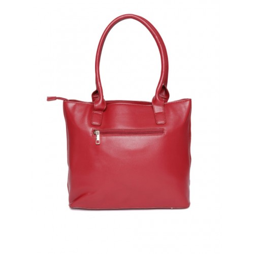 DressBerry Red Synthetic Solid Shoulder Bag