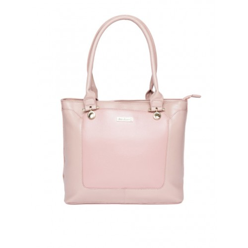 DressBerry Dusty Pink Synthetic Solid Shoulder Bag