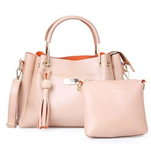 JFC Pink Canvas Handbag with Sling Bag Combo