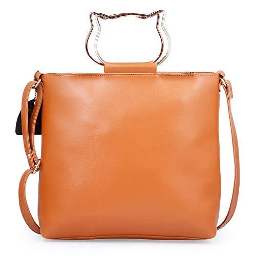 Speed X Fashion Orange Leather Handbag Sling Bag Combo