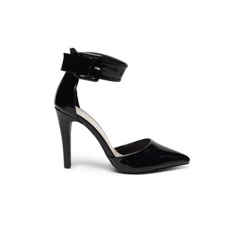 Catwalk Black Synthetic Solid Heels