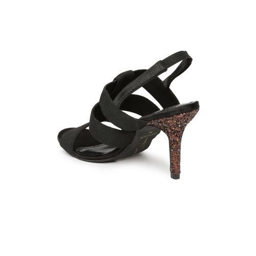 Catwalk Women Black Solid Open-Toe Heels