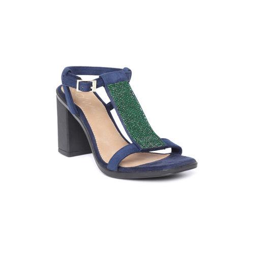 Catwalk Women Blue Embellished Heels