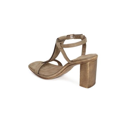 Catwalk Women Bronze-Toned Embellished Sandals