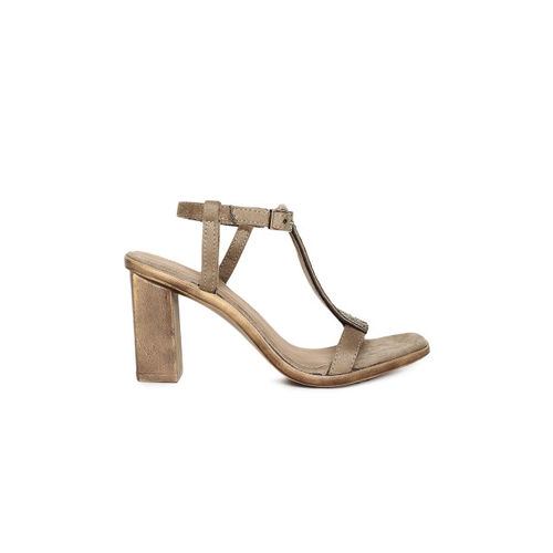 Catwalk Women Bronze-Toned Embellished Sandals