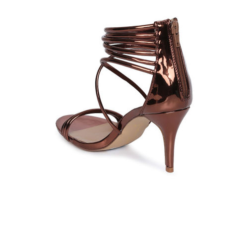 Catwalk Brown Synthetic Solid Open Toe Sandals