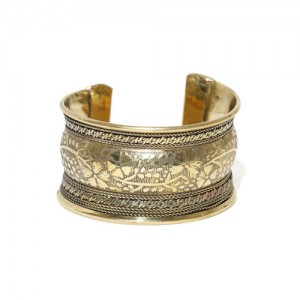 PRITA Antique Gold-Toned Cuff Bracelet